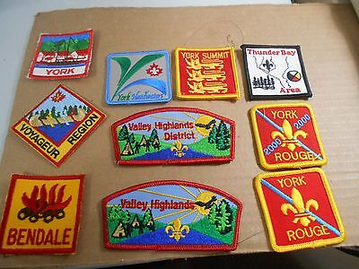 (Rr3-R)  Ten Ontario Listed Scout Badges  Unused  Canadian Scout Badges