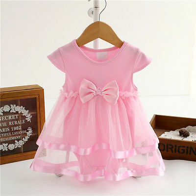 Baby Girl Clothes Newborn Kids Princess Tutu Bodysuit Playsuit Romper Dress Top