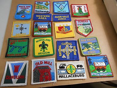 (Rr6-R) Eighteen Ontario Listed Scout Badges  Unused  Canadian Scout Badges