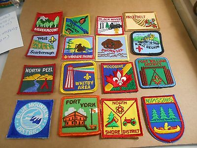 (Rr7-R) Eighteen Ontario Listed Scout Badges  Unused  Canadian Scout Badges