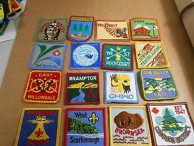 (Rr8-R) Sixteen Ontario Listed Scout Badges  Unused  Canadian Scout Badges