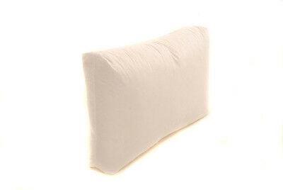 "16"" x 24"" Rectangle Oblong Box Cushion Pad with 2"" Depth - Wool, Feather, Fibre"
