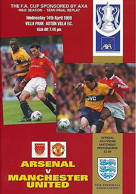 FA CUP SEMI FINAL REPLAY 1999 Manchester United v Arsenal