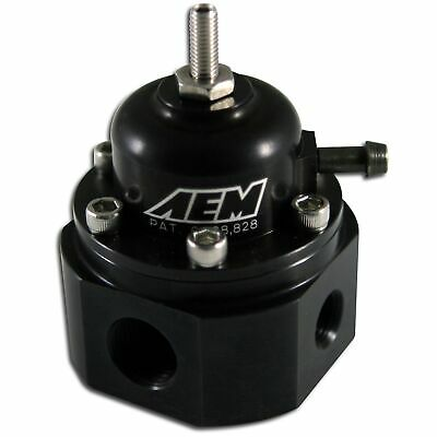 AEM Electronics Universal Adjustable EFI Fuel Pressure Regulator Kit - 25-302BK