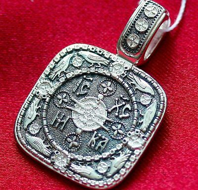 Rare Russian Greek Byzantine Orthodox Protective Medal St Birds Silver 925 New