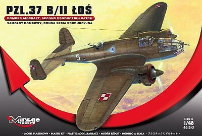 "MIRAGE HOBBY® 481310 Polish Air Force PZL-37B/II ""Łoś"" Bomber in 1:48"