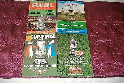 Collection Of Fa Cup Finals Wembley Stadium 1970 1975 1978 1979