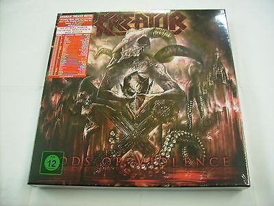 Kreator - Gods Of Violence - 2Lp Red Vinyl+Dvd+Cd+Bluray Boxset New Sealed 2017