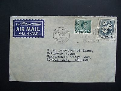 Australia 1960 Airmail Cover from Fairfield to London, England