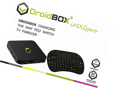 [2017 MODEL] DroidBOX iMXQpro with i8 Keyboard Fully Loaded Android 6.0 Marshmal