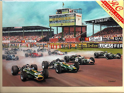 Classic Formula One at Silverstone - Wheelspin - Birthday Card