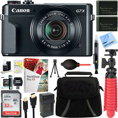 Canon PowerShot G7 X Mark II Digital Camera + Spare Battery & Accessory Bundle