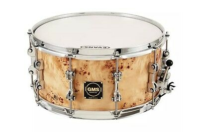 """GMS 14"""" x 5.5"""" Special Edition Mapa Burl Snare Drum"""