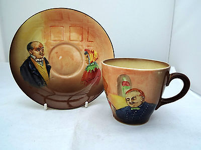 ROYAL DOULTON SERIES WARE DICKENS CUP & SAUCER c.1930s
