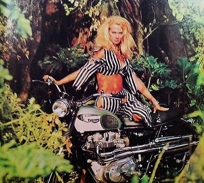 """Triumph Motorcycle Bike ad print gift """"Ready to Display"""" 1966 1967 1968 1969"""