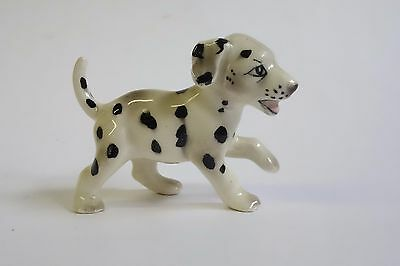 Vintage Dalmatian Puppy Dog Miniature Figurine Running Well Painted Tongue Out