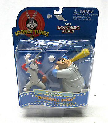 "Looney Tunes Bugs Bunny in ""Baseball Bugs"" w/ Gas-House Gorilla Figure 16403"