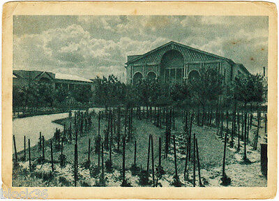 1939 Soviet Russian card GARDENING PAVILION in Agricultural Exhibition