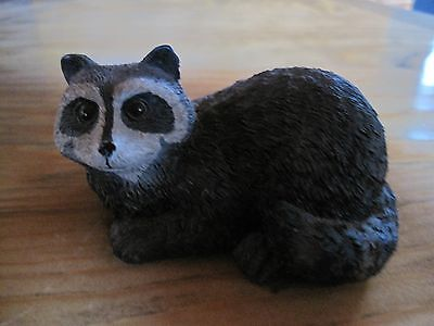 Raccoon figurine statue Plastic textured Woodland, Rustic, Northwoods,collector