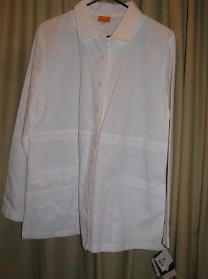 Large Barco Overpro Size L Women lab coat White Professional Student NWT NEW