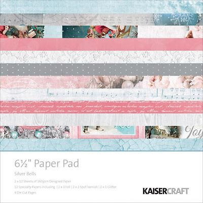 Kaisercraft Silver Bells (1) 6.5X6.5 Paper Pad Collection Christmas Santa
