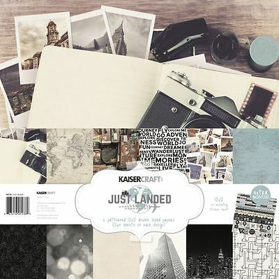 Kaisercraft Just Landed (1) 12X12 Scrapbook Collection Pack Kit Travel Airplane