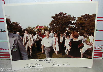 Old Presidential Jimmy Carter & Rosalynn Carter Auto Signed 8x10 Color Photo