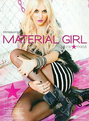 "TAYLOR MOMSEN - MATERIAL GIRL AD - 11"" x 8"" MAGAZINE PINUP - POSTER"