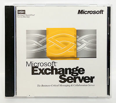 Microsoft Exchange Server Version 5.5 in jewel case with product CD key CD-ROM