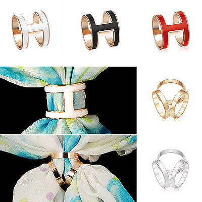 2018 Jewelry Rose Gold Plated Trio Scarf Ring Silk Scarf Buckle Clip Slide