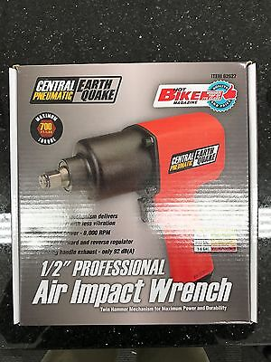 """EarthQuake Central Pneumatic 1/2"""" Professional Air Impact Wrench 62627 Red NEW!"""