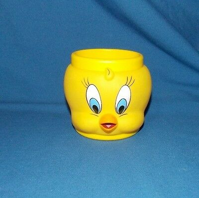 Tweety Bird Kids Cup Mug Hard Plastic Warner Brothers Looney Tunes 1992