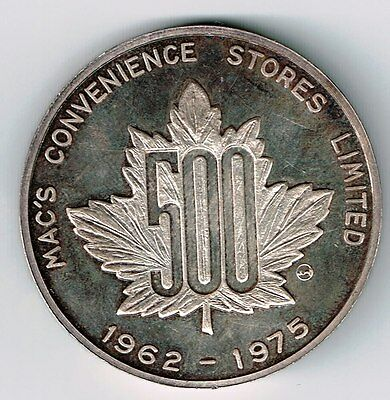 Mac's Convenience Stores Ltd 1962-1975 999.5 Fine Silver Medal People Progress