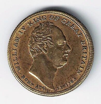 William Iv King Of Great Britain Born 1765 Died 1837 Medal Token