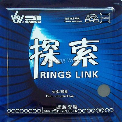 Sanwei RINGS LINK Pips-in Table Tennis Rubber,NEW