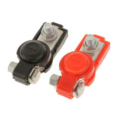 2 Pair Replacement Auto Car Battery Terminal Clamp Clips Black Red Connector