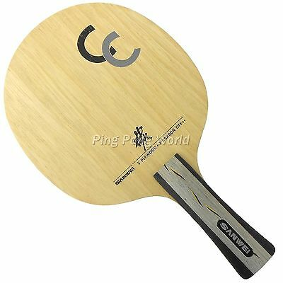 Sanwei CC Table Tennis Ping Pong Blade (5 WOOD+2 CARBON)