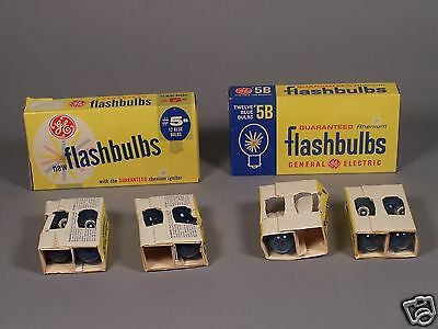 Vintage Flash Bulbs 5B blue Bulbs by GE - 12 Bulbs in 2 Different Boxes