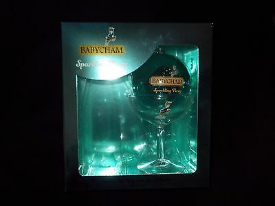 New Babycham Glass & Bauble Gift Set **boxed**