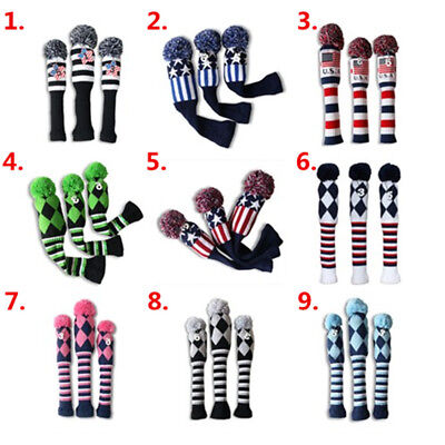Golf  Driver Head Cover Fairway Wood Headcover Pom Pom For Taylormade M1 M2 R15
