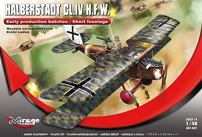MIRAGE HOBBY® 481402 Halberstadt CL.II H.F.W. (Early) Short Fuselage in 1:48