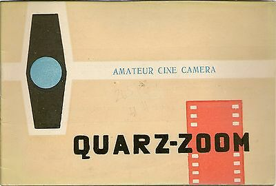 Original Camera Instructions - QUARZ ZOOM Russian Cine cfamera
