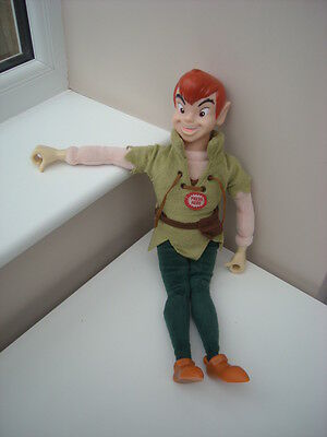 "Disney Peter Pan 17"" Talking Doll Very Rare & Htf"