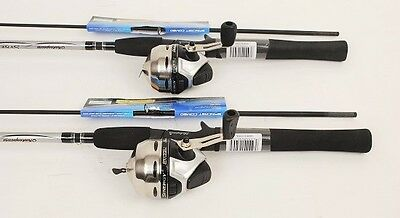 2 Shakespeare Synergy Steel Spincast Fishing Reels, 6ft Rods, NEW
