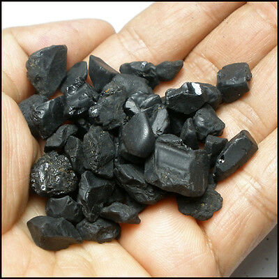 260.00ct Natural100% Rough lot**Black Spinel** RARE!!