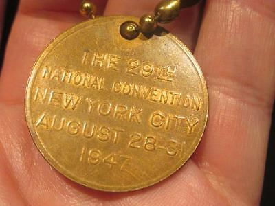American Legion's 29th National Convention NY 1947 Vintage Key Chain Fob