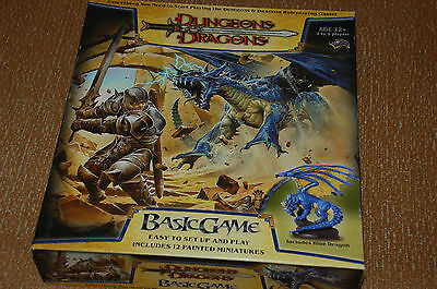 DUNGEONS & DRAGONS BASIC GAME BOARD GAME - roleplaying, Blue Dragon, Wizards