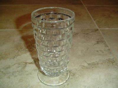 VINTAGE Fostoria Whitehall Colony American Cube Flare Clear Iced Tea Glasses