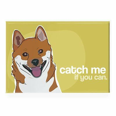Pop Doggie Catch Me If You Can Shiba Inu Fridge Magnet, New