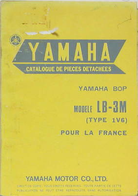 1976 Moto Yamaha  Bop Lb 3M Type 1V6  France  Parts List En Francais